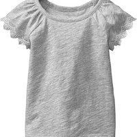 Embroidered Flutter-Sleeve Tees for Baby