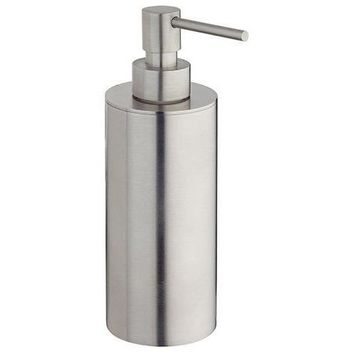 BA Tecnohotel Free Standing Brushed Steel Pump Soap Lotion Dispenser for Bath