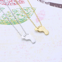 foot print necklace in  silver or gold tone