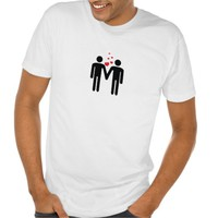 Cute Gay Couple In Love LGBT T-shirt