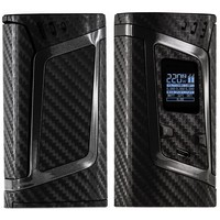 PIMP MY VAPE - Custom Protective Vinyl Decal for ecig (e-cigarette) SMOK ALIEN 220W TC Cover - Best quality skin - Second life to your box mod, wrap and enjoy + BONUS STICKER (Carbon 4D Black)