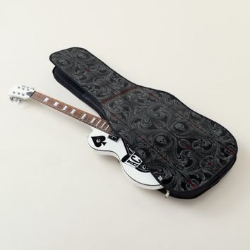 Goth Gray Ornament with Skull Guitar Case
