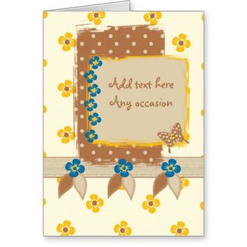 Birthday any occasion card