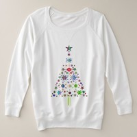 Christmas Tree Celebration Plus Size Sweatshirt