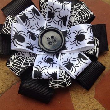 SALE...Spider/Web Loopy Bow Halloween/Fall