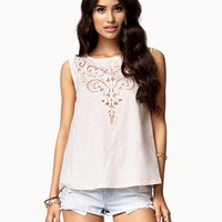 Mesh Filigree Pattern Top