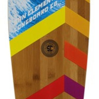 San Clemente Sections Bamboo Pintail Complete Longboard 9.5x42
