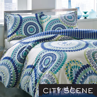 City Scene Radius 3-piece Cotton Duvet Cover Set