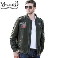 high quality 2016 brand men autumn winter military jacket men's casual army cotton jacket and coat sports outerwear bomber