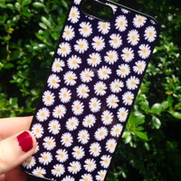 Iphone 5 5S Phone Case Daisy Flowers Floral Summer Print Hipster Phone Cover