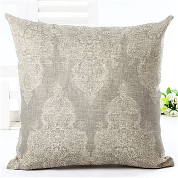 Cushion Cover Bohemian Style Car Home Decorative Floral Printed Throw Pillowcase