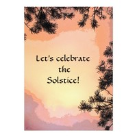"Summer Solstice Party Invitation 5"" X 7"" Invitation Card"