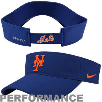 Nike New York Mets Stadium Adjustable Performance Visor - Royal Blue