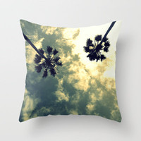 Villa Riviera Arial Clouds Throw Pillow by RichCaspian | Society6