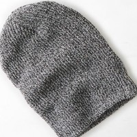 AEO 's Wear America Ribbed Beanie (Heather Grey)