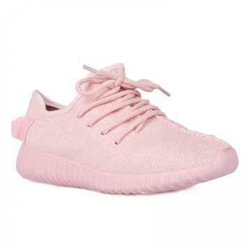 Nikki PINK Textured Trainers