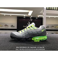 Nike Air Max 95 Neonaa??VAPOR MAX Gray Green Sports Running Shoes Sneaker