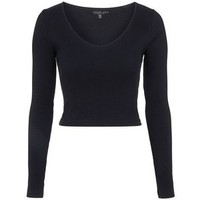 TopShop Petite v-Neck Ribbed Top