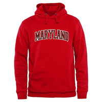 Maryland Terrapins Arch Name Pullover Hoodie - Red