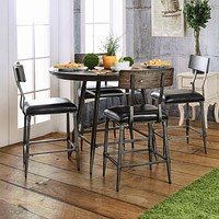 Naya Industrial Round Counter Height Table