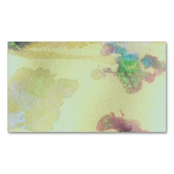 abstract art business card template double sided