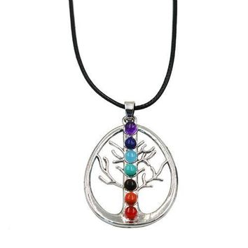 Hinduism Mandala Zen Tree Of Life Healing Reiki Meditation 7 Chakras Necklaces&Pendants Yoga Jewelry collier femme  bijoux Women style7