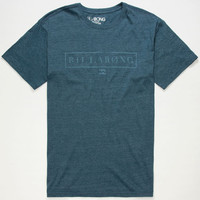 Billabong Framed Mens T-Shirt Heather Navy  In Sizes