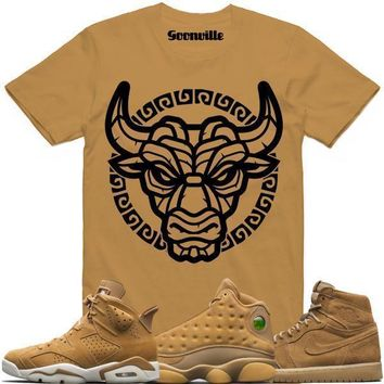 TIKI BULLY Wheat Sneaker Tees Shirt - Jordan Golden Harvest