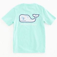 Boys Map Whale Graphic Pocket T-Shirt