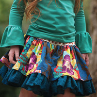 Persnickety Lily Skirt in Emerald Pine PREORDER