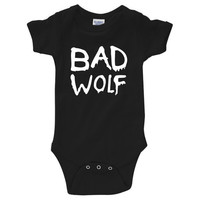 """Dr. Who """"Bad Wolf"""" Onesuit Creeper (New Born - 24 Months)"""