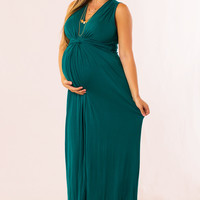Easy To Love Maternity Maxi in Teal