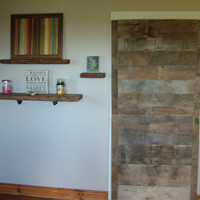 Reclaimed Barn Wood Door- 100+y.o. solid wood- All sizes- Hinged or Sliding