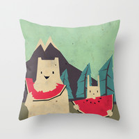 I want moaarrr! Throw Pillow by Yetiland