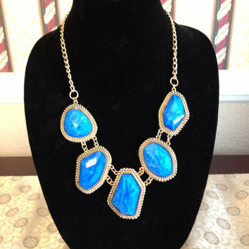 Five Stone Statement Necklace