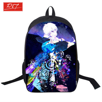 2016 student school Backpacks Tokyo Ghoul Bag Children Fashion School Bags Japanese Anime Boys Cartoon shopping bag for Teenager
