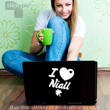 I Love Niall - One Direction - (Laptop Decal 1D Wall Sticker Decal PC Apple Macbook Mac Geekery)