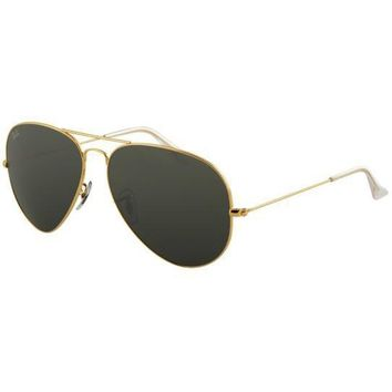 Gouka 2019 New Rayban Original 3026 Aviator Unisex Sunglasses Dark Green