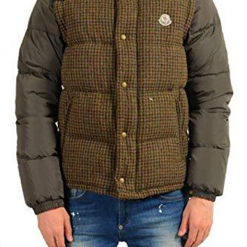 Moncler Men's Multi-Color 100% Wool Down Parka Jacket Vest Sz 3 US M