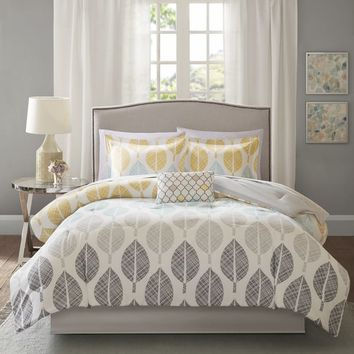 Carson Carrington Stockholm Yellow/Aqua Comforter and Cotton Sheet Set | Overstock.com Shopping - The Best Deals on Comforter Sets