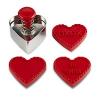 Valentine Stamp Cookie Cutter Set