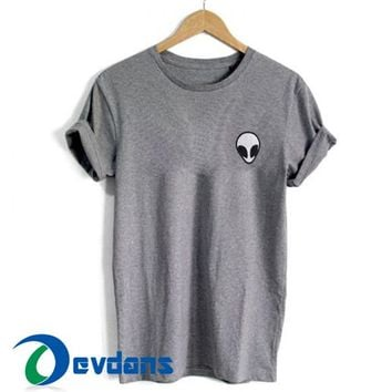 Alien Pocket T Shirt For Women and Men Size S - 3XL