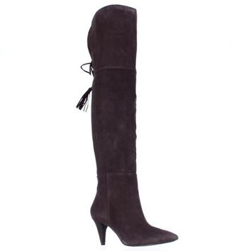 Nine West Josephine Over-The-Knee Boots, Dark Brown, 5 US