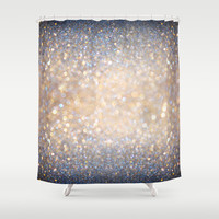 Glimmer of Light (Ombré Glitter Abstract) Shower Curtain by soaring anchor designs ⚓ | Society6