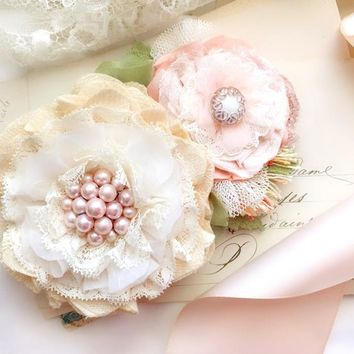 Floral Wedding Belt ~ Blush Blossoms