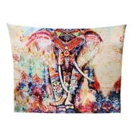 Colourful Elephant Mandala Tapestry