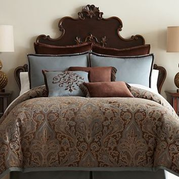 Royal Velvet® Lourdes Chocolate Comforter Set & Accessories