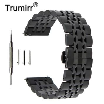 20mm 22mm Stainless Steel Watch Band for Hamilton Butterfly Buckle Strap Quick Release Wrist Belt Bracelet + Spring Bar + Tool