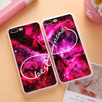 2017 New Unlimited Infinity Deer Space Best Friends Case Soft TPU Silicon BFF Case Cover For iPhone 5 5S SE 4 4S 5C 6 6S 7 Plus