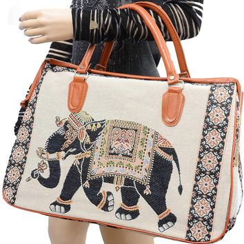 "Huge 18"" Carry On Elephant Travel Luggage Bag Shoulder Strap"